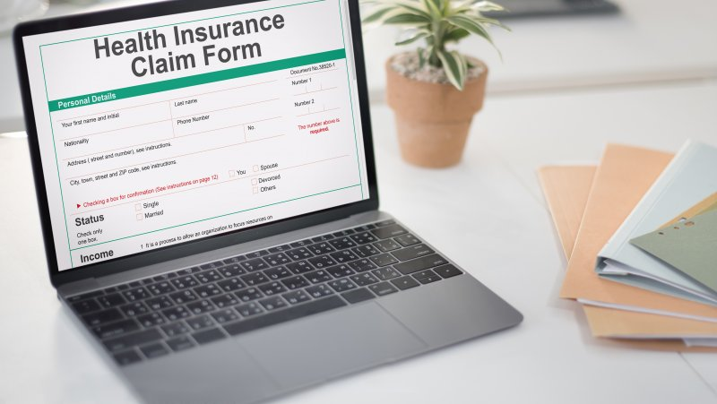 A health insurance claim form